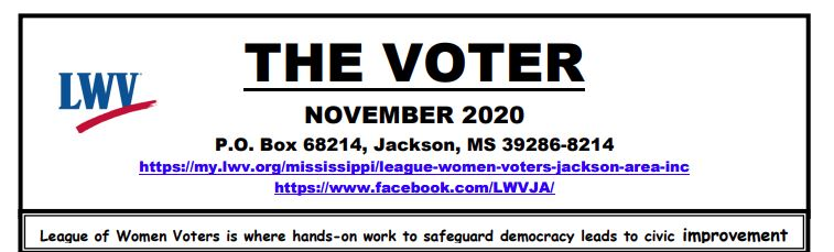The Voter Newsletter of LWV of Jackson Area MS