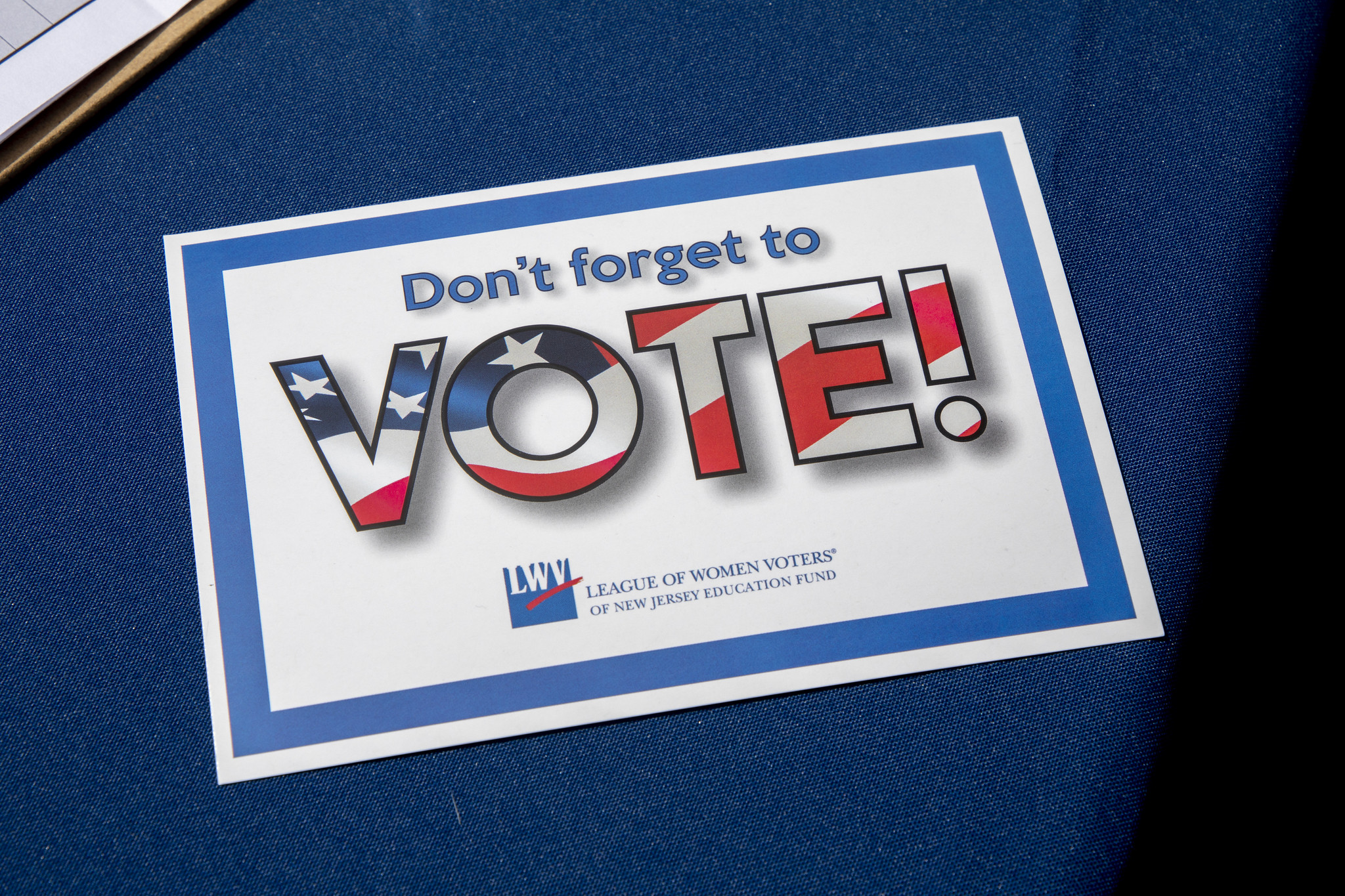 Picture of a Voting Sign
