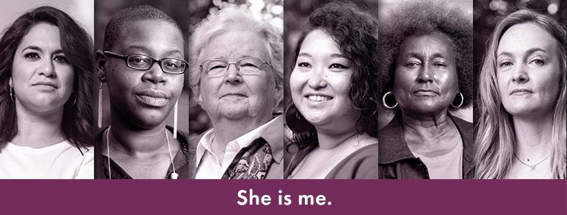 LWV She Is Me Campaign 2019 picture of diverse women