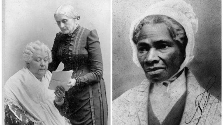 Elizabeth Cady Stanton, Susan B Anthony and Sojourner Truth picture