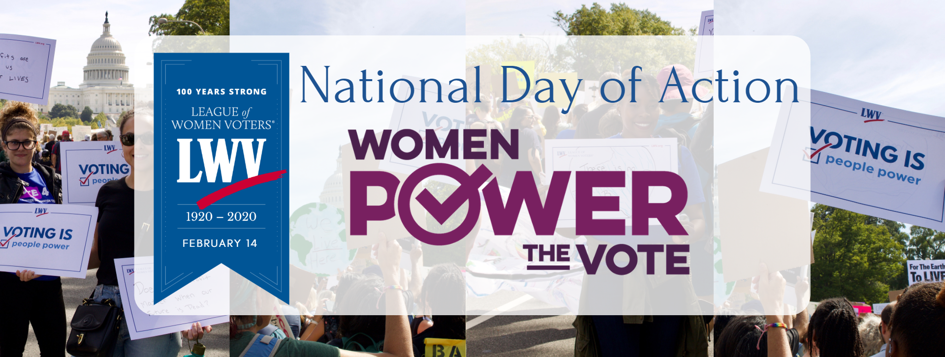 National Day of Action February 14 2020 Women Power the Vote Image