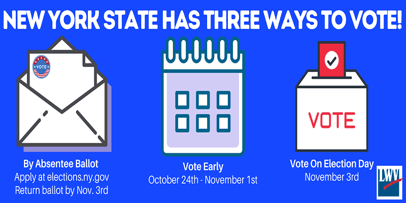 3 Ways to Vote in New York State