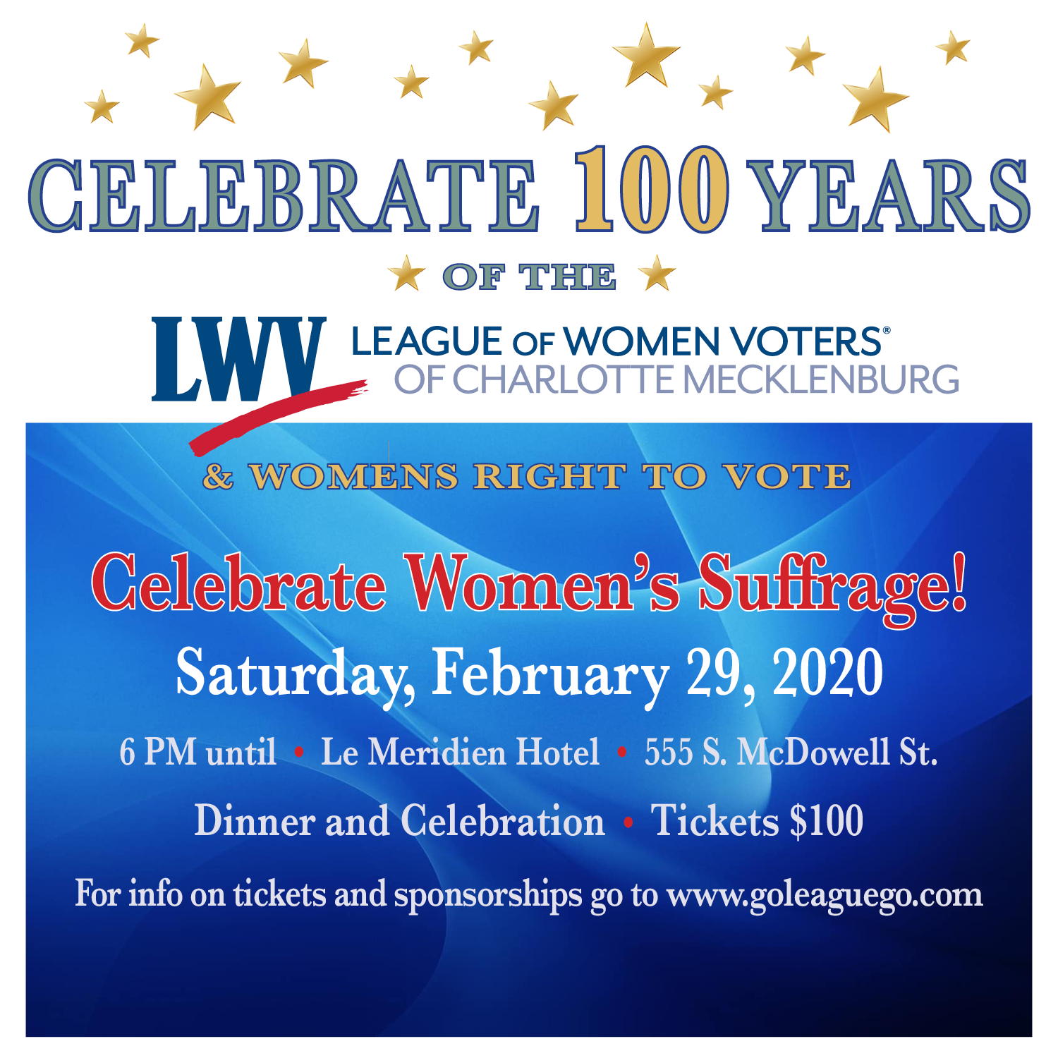Celebrating 100 Years of the League and Women's Right to Vote