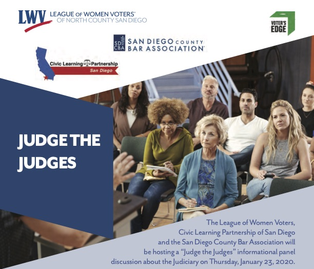 Graphic of the Judge the Judges flyer
