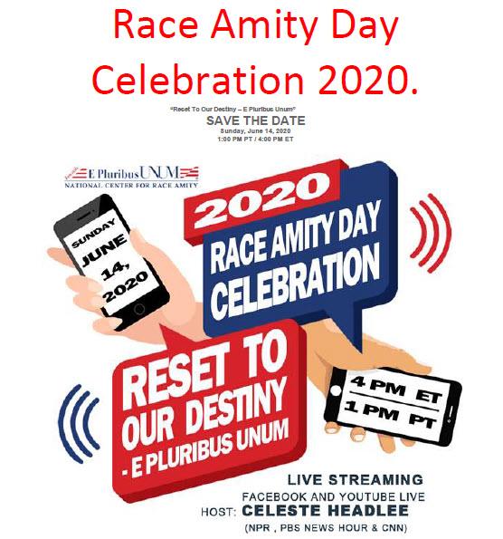 Race Amity Nationwide Celebration Announcement