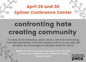 confronting hate poster