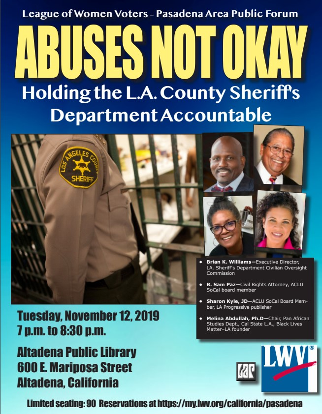 LWV-PA League Nite Nov 12, 2019 Image