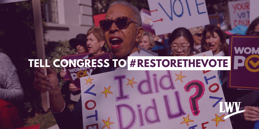 Tell Congress to #RestoretheVote