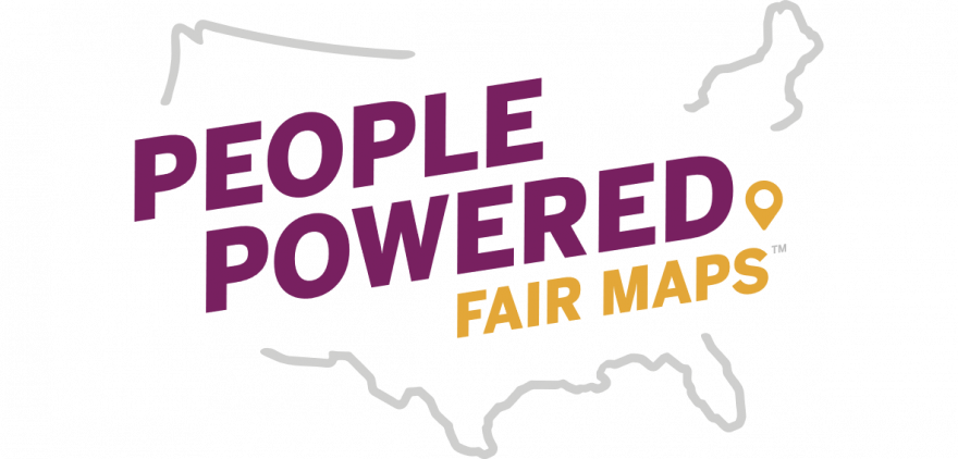 People Powered Fair Vote logo with map