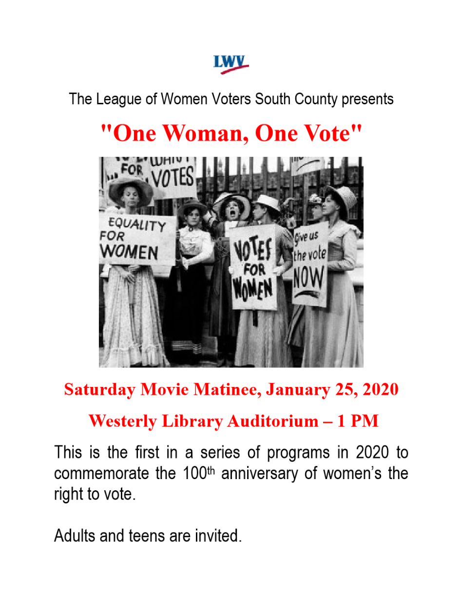 movie matinee flyer with Suffragists
