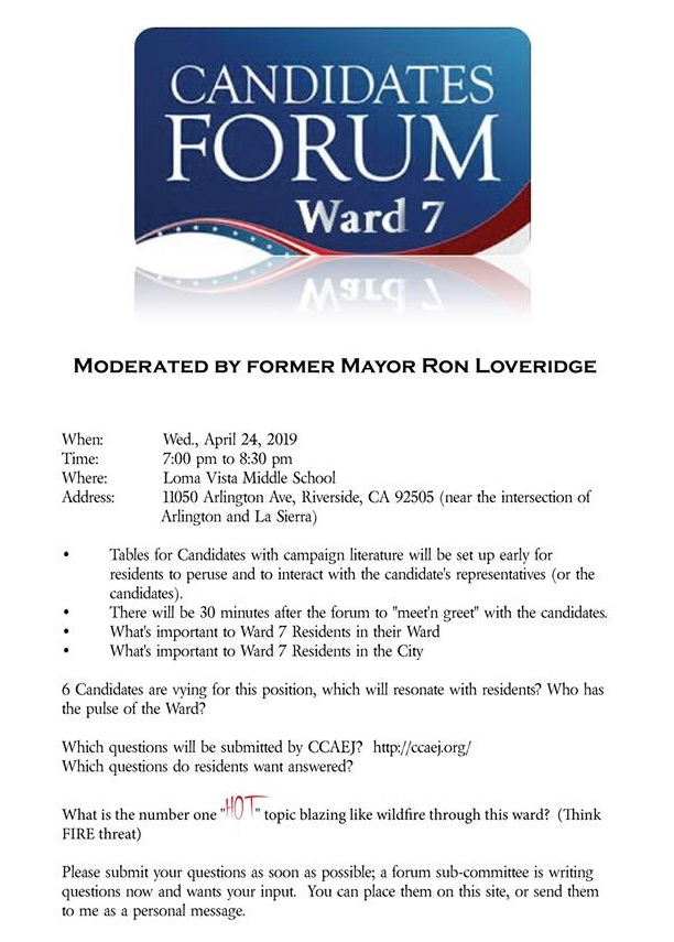 2019 Ward 7 Forum