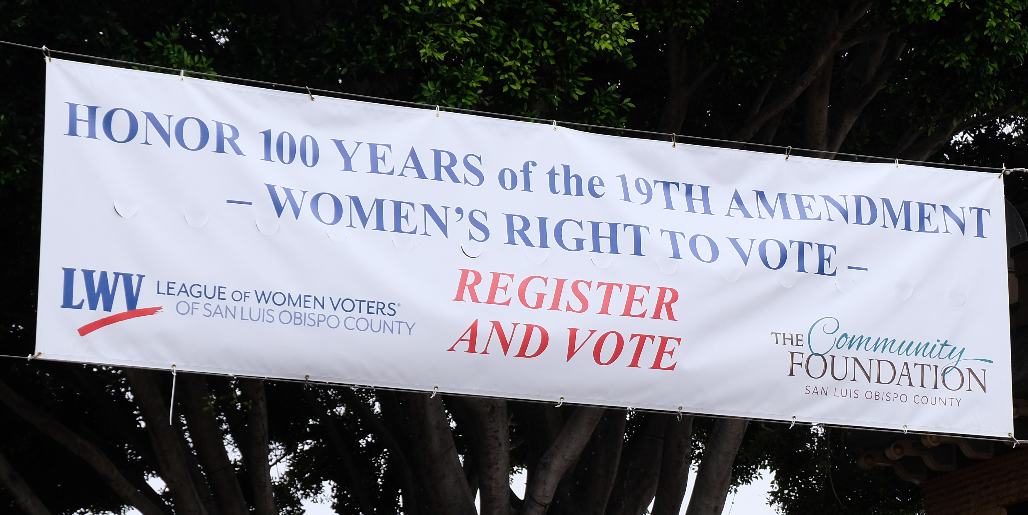 Honor the 100 years of the suffragists' legacy: Register and Vote