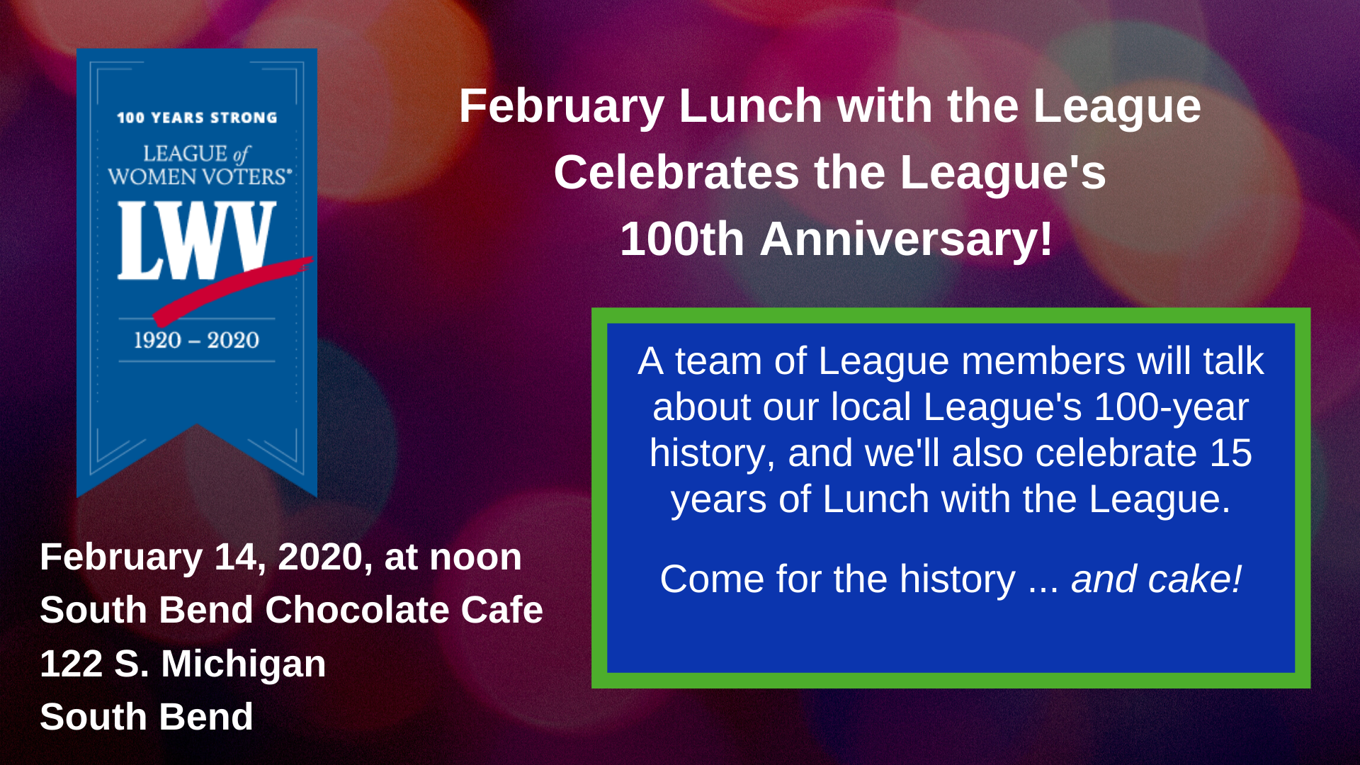 February 2020 Lunch with the League