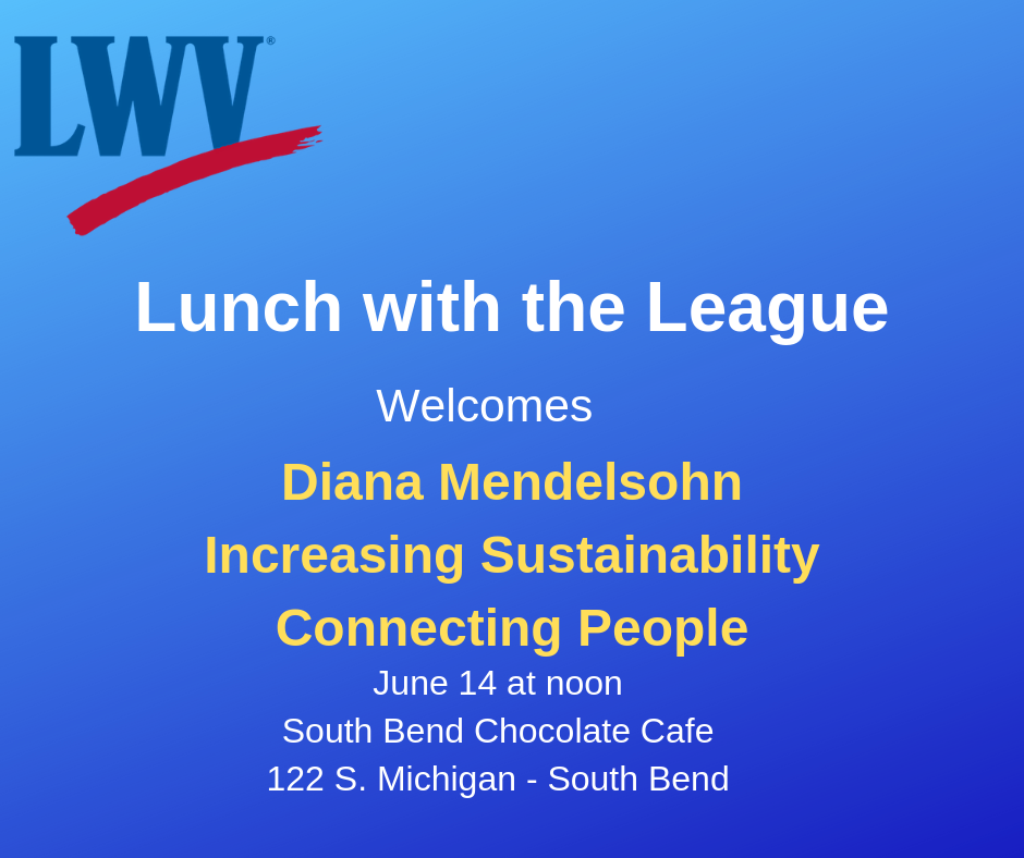 Lunch with the League Welcomes Diana Mendelsohn June 2019