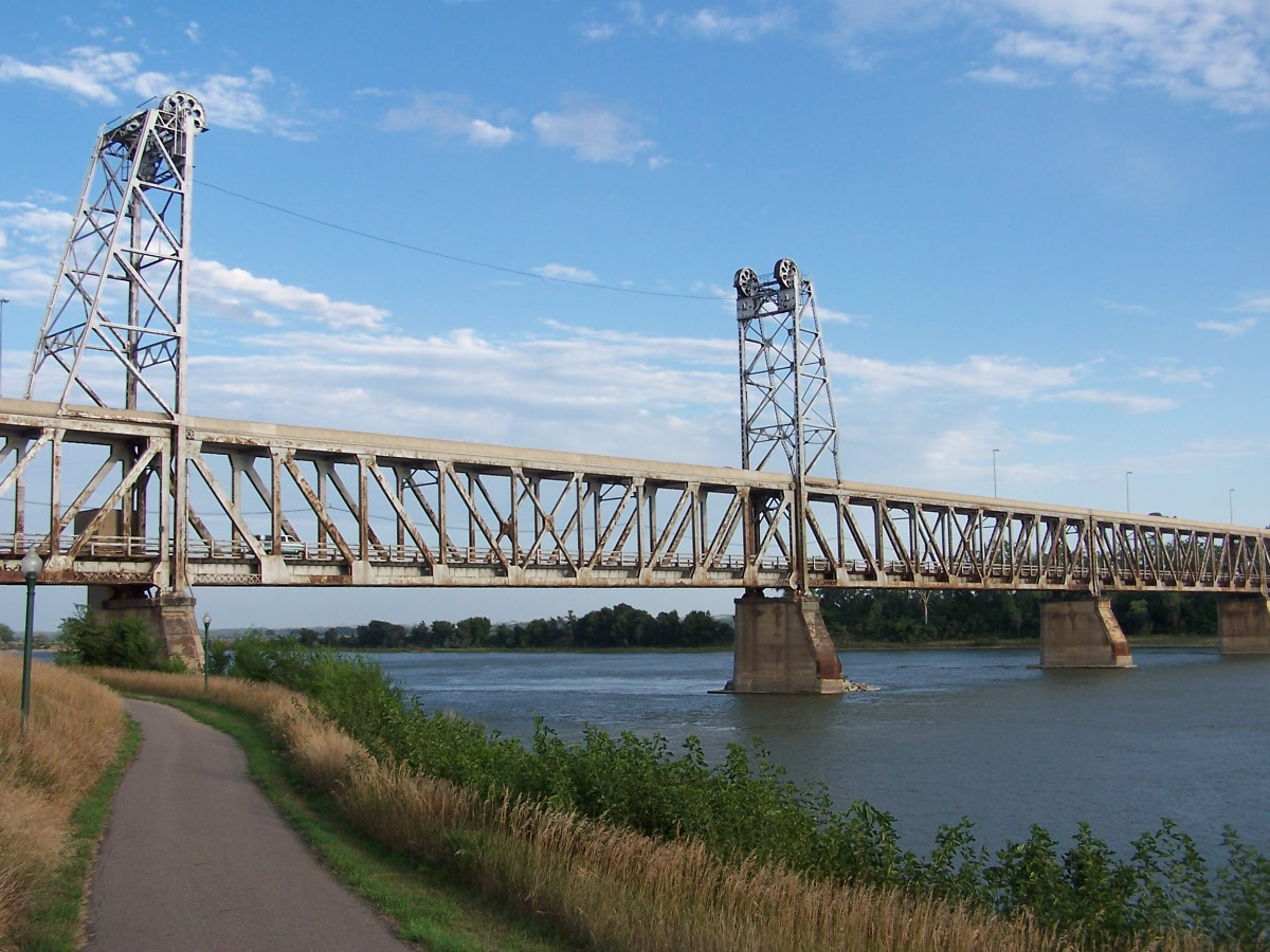 Meridian Bridge in Yankton, SD