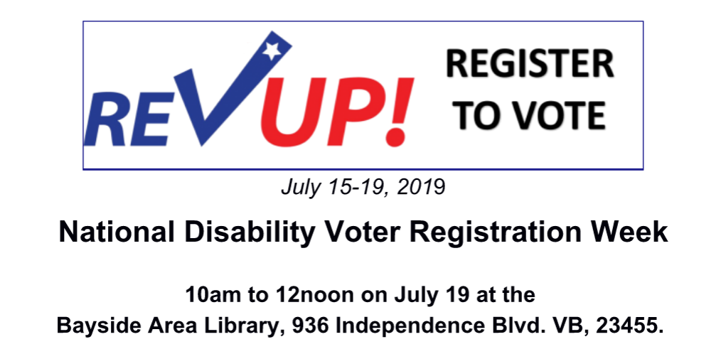 National Disability Voter Registration Week