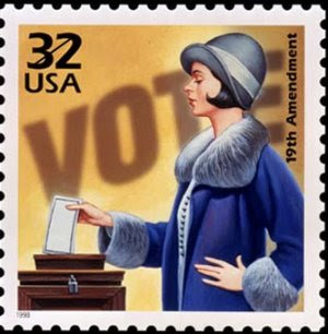 19th amendment stamp