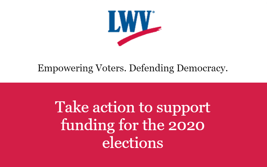 Take Action to Support Funding for 2020 Election
