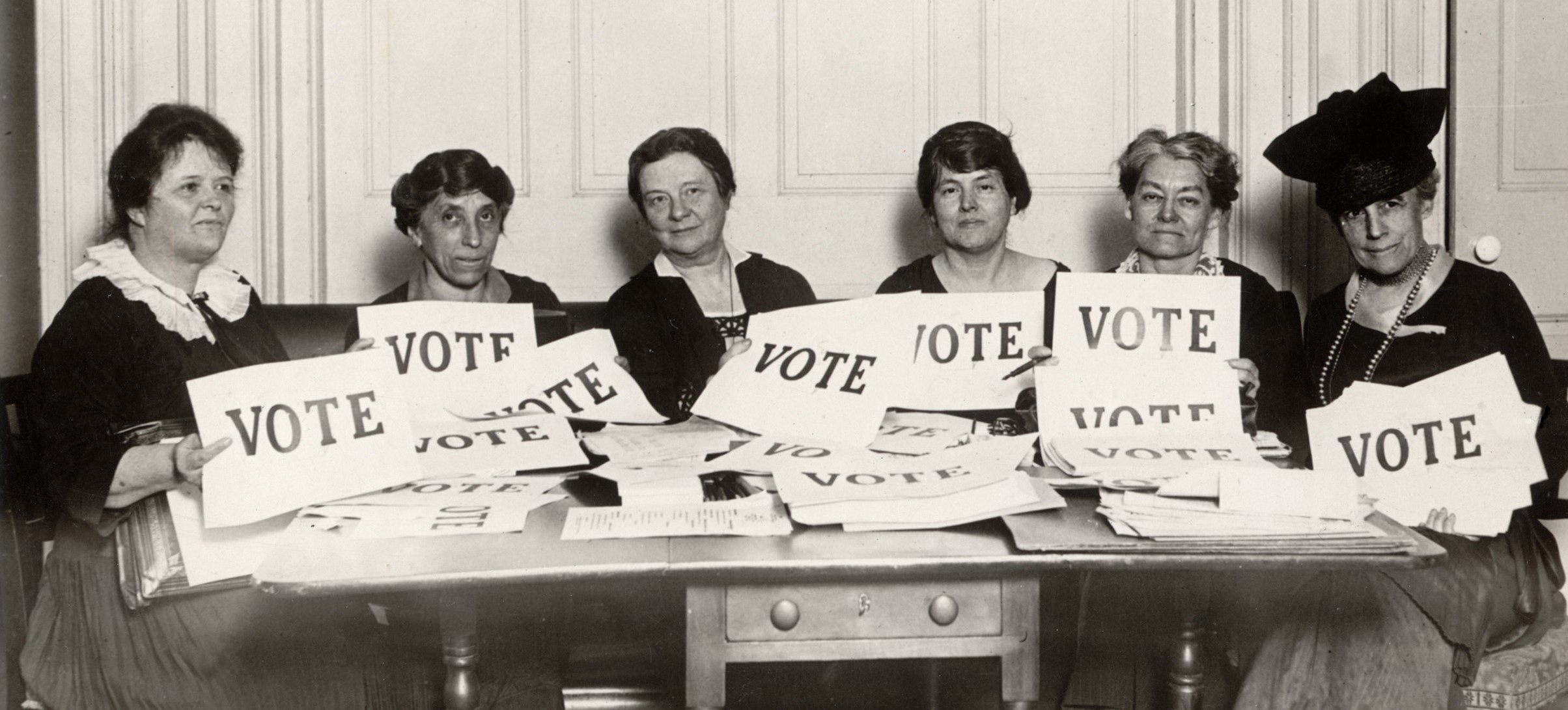old fashioned voter ladies