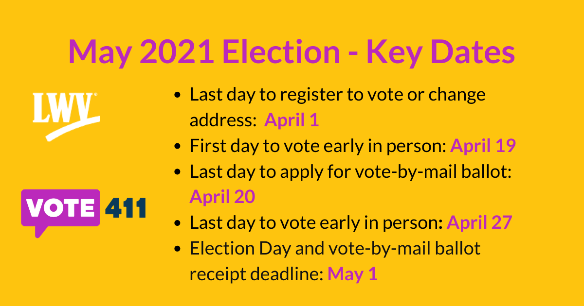 Texas Election Calendar 2021 Election Dates | MyLO