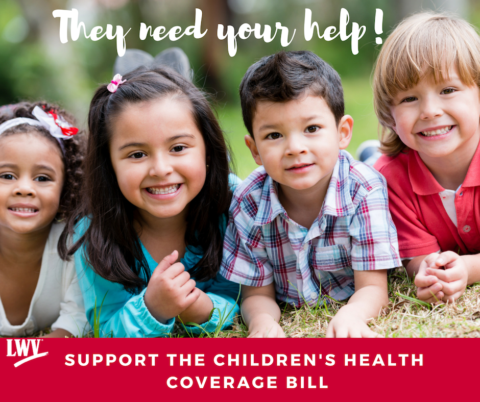 Children smiling. Support the children's Health Coverage bill.