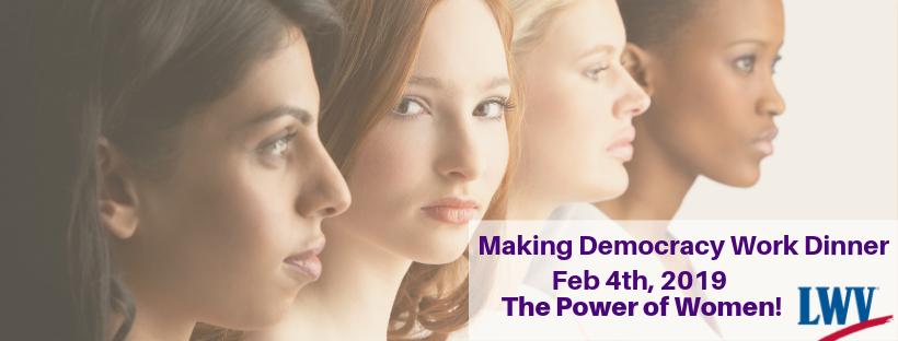 Four Women with Making Democracy Work Dinner information