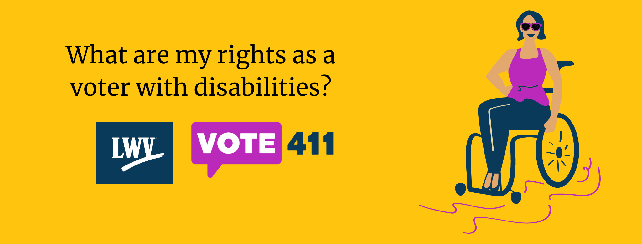 What are my rights as a voter with disabilities?