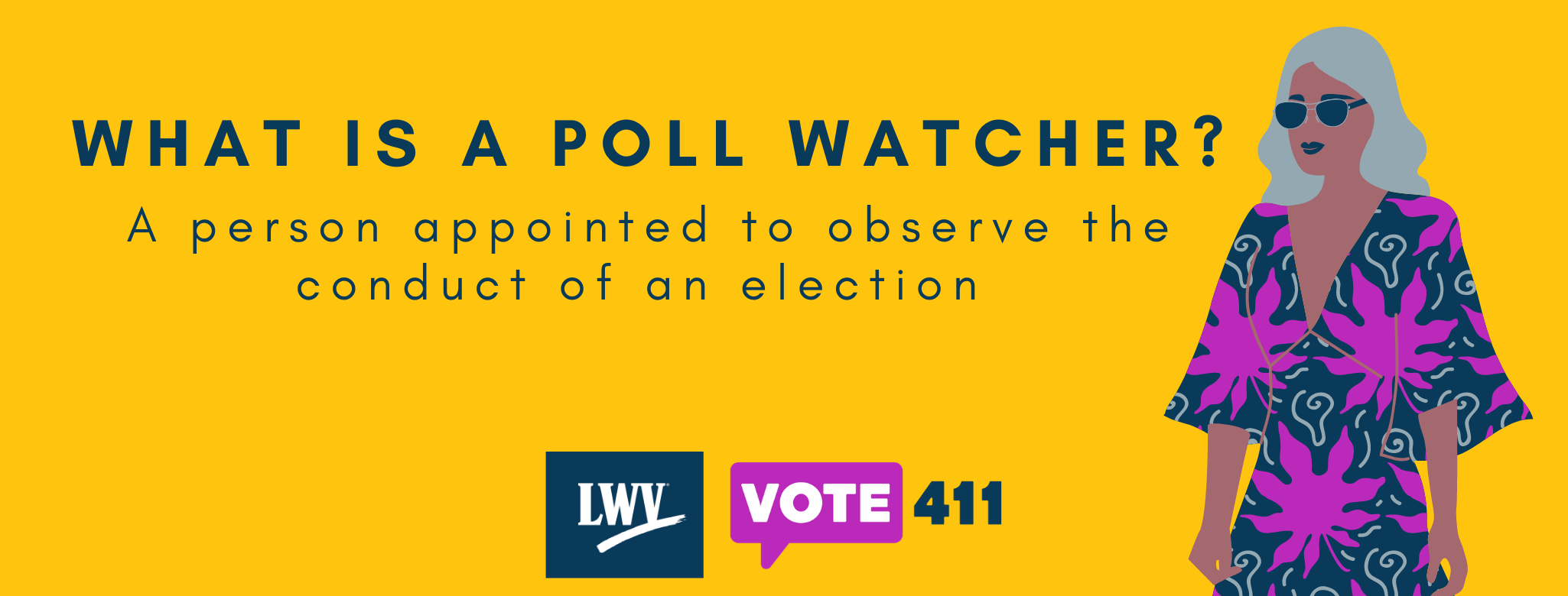What is a poll watcher? graphic