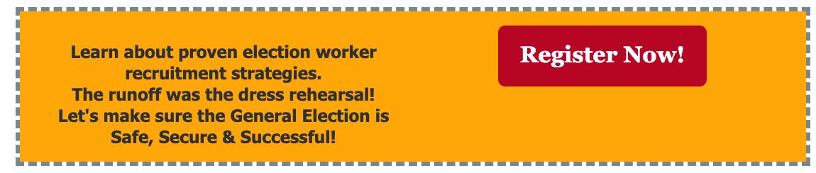 Election Worker Recruitment Webinar