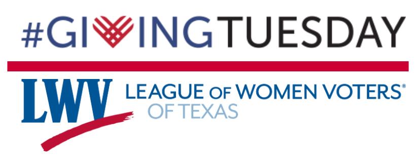 Giving Tuesday LWV Texas