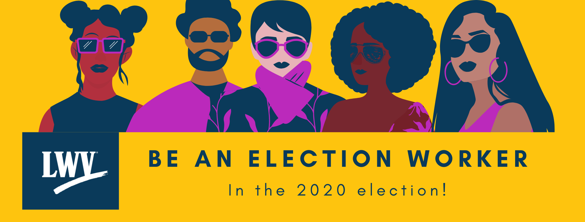 Be an Election worker men and women graphic