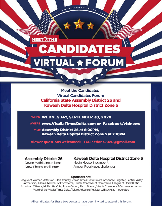 California Assembly 26 Candidate Forum