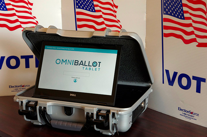 Omni Ballot Voting Machine