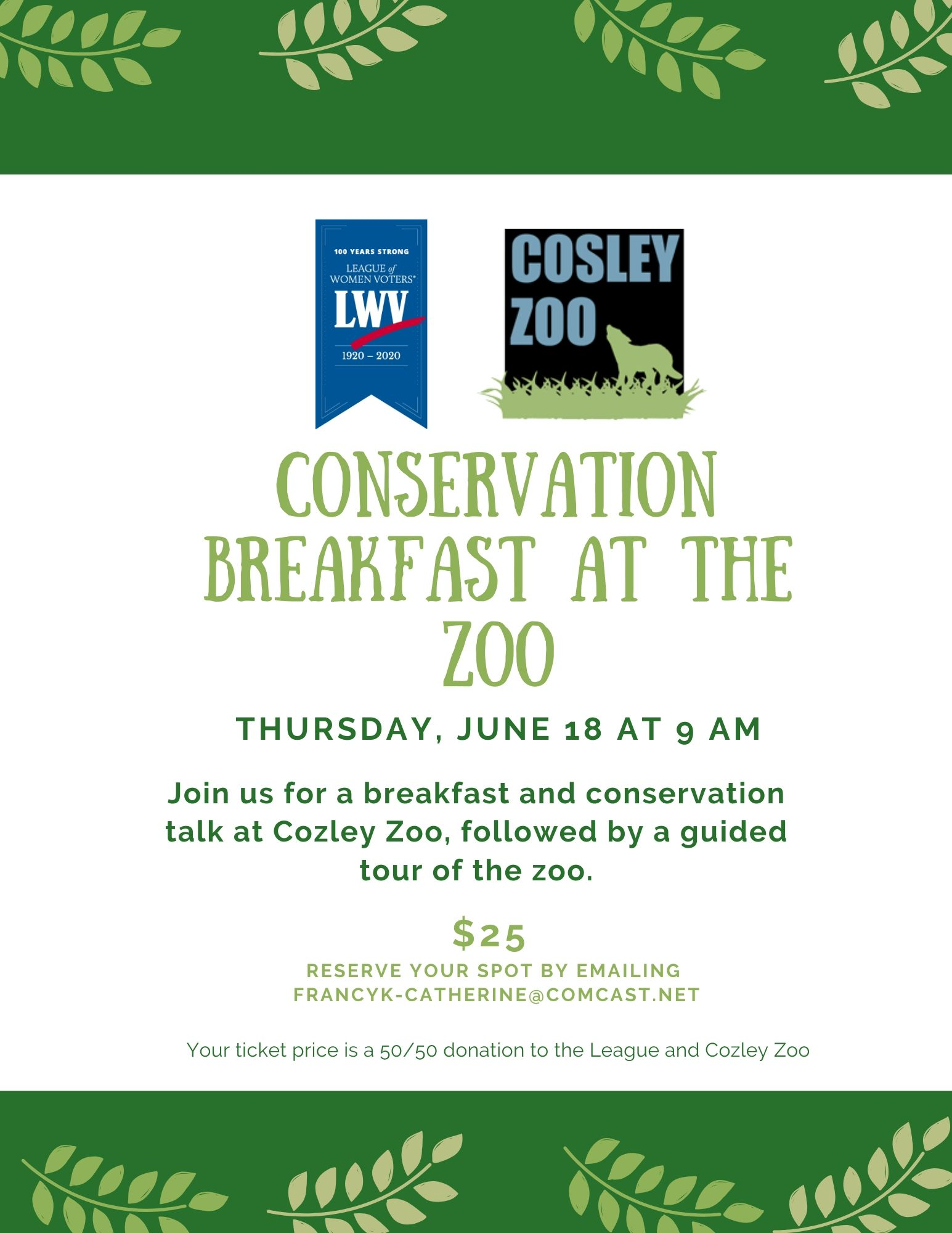 Cosley Breakfast at the Zoo Fundraiser