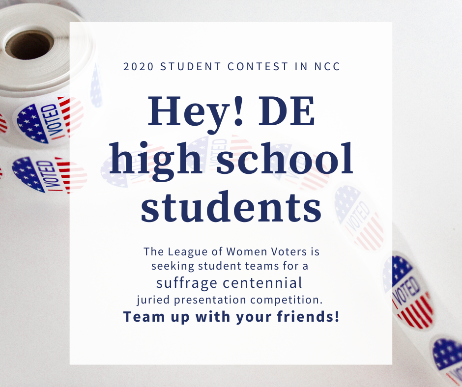 Hey! DE High School Students - 2020 NCC Student Contest in NCC