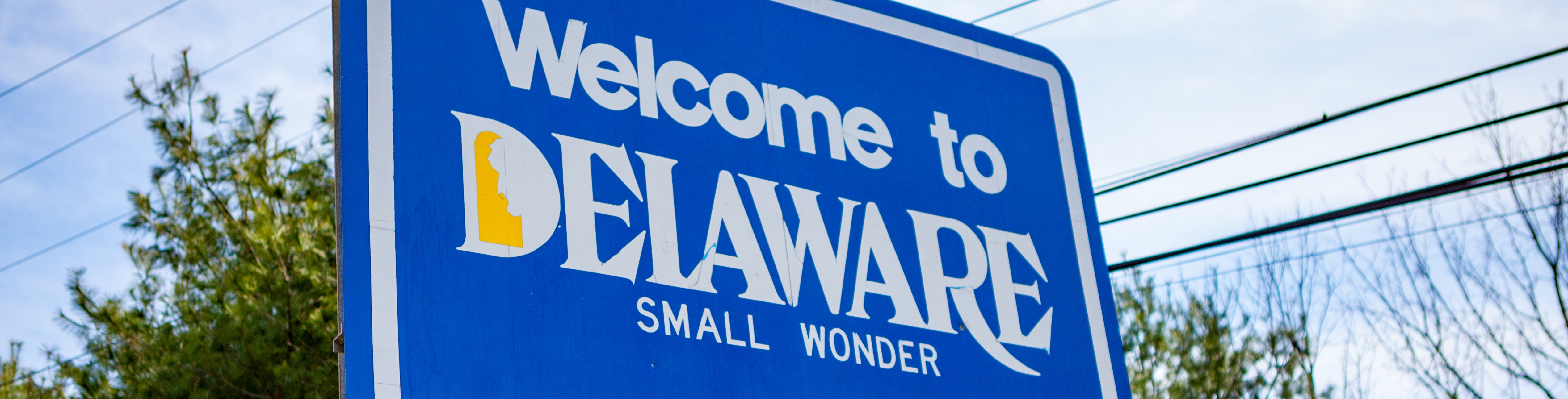 Welcome to Delaware (road sign)