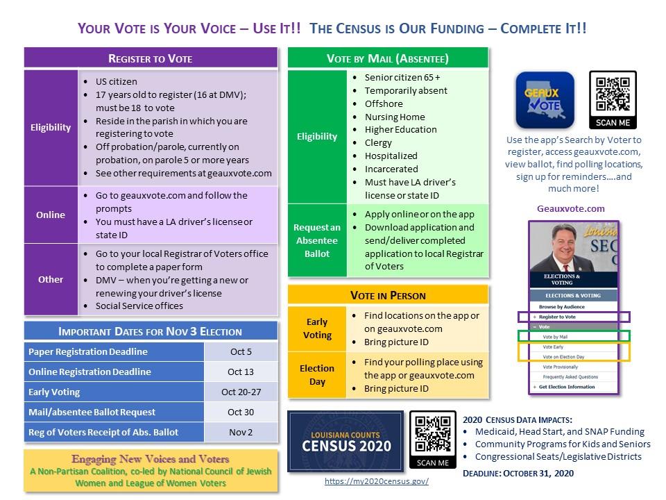 2020 Voting Flyer