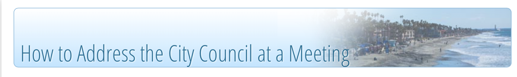 How to address the City Council at a Meeting