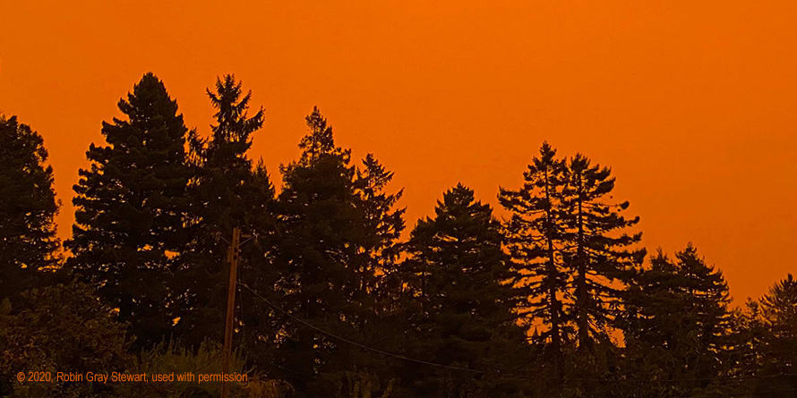 Red sky from Northern California fires