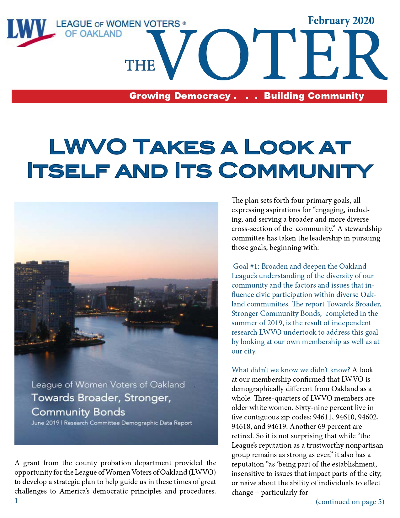VOTER Newsletter Spring 2020