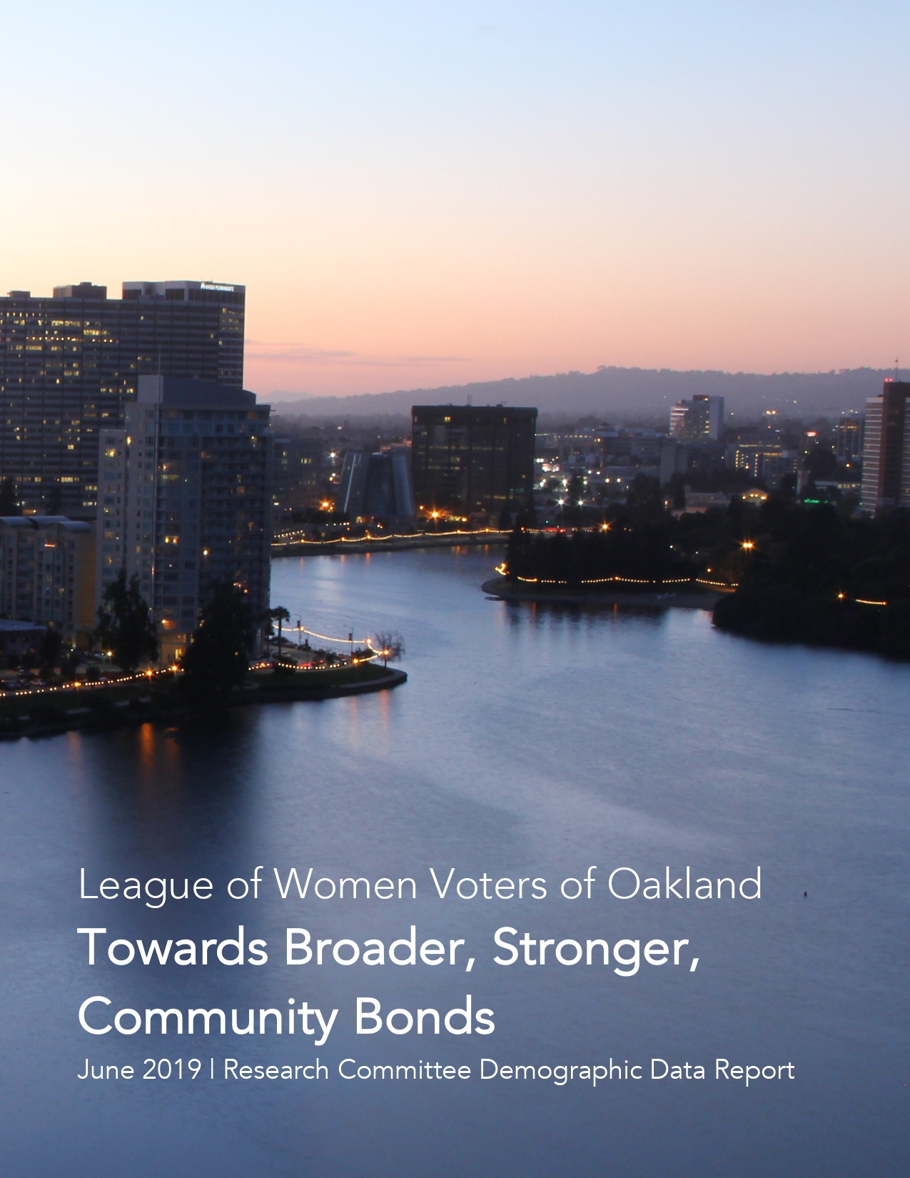 Scenic cover for demographic report