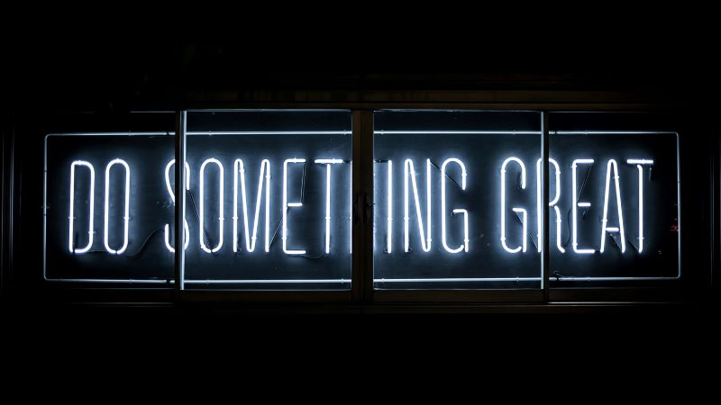 """Do Something Great"" Neon Sign"