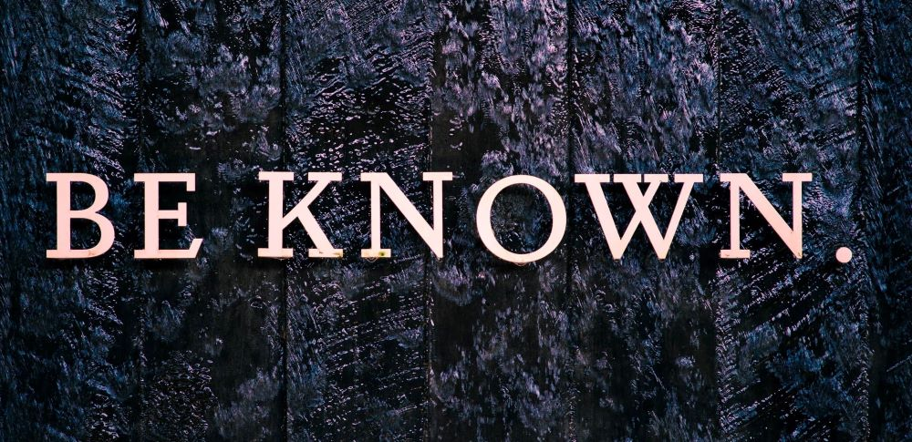 """Two words, """"Be Known"""", from the National Memorial for Peace and Justice, Montgomery, AL. USA"""