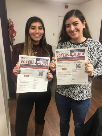 Interns Fall 2018 with Voters Guide