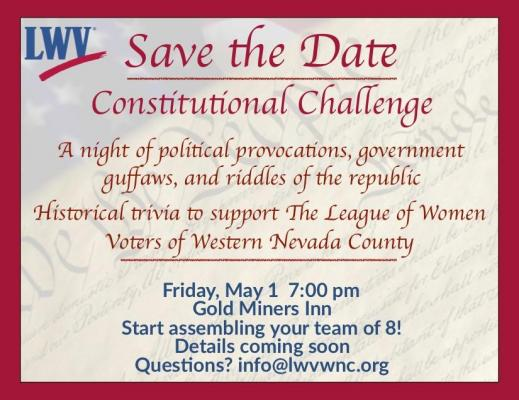 Save the Date - Constitutional Challenge