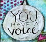 "clipart - ""You Have A Voice"""