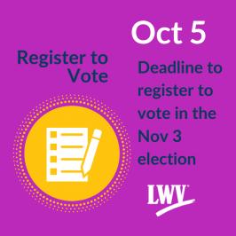 Register to Vote Deadline