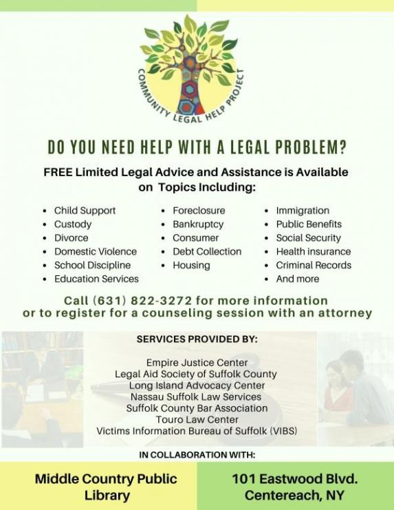 Community Legal Help Project Flyer - English