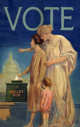 Poster - Liberty Encouraging the Vote