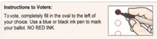 Ballot Ink Color Instructions